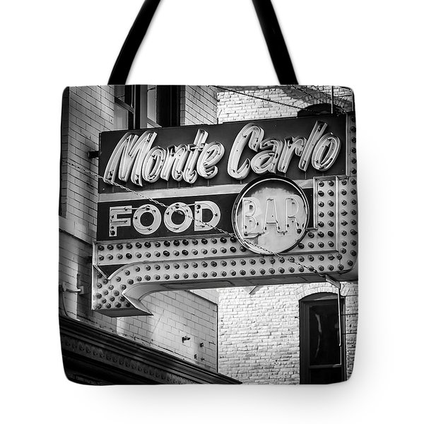 Monte Carlo Food Tote Bag by Perry Webster