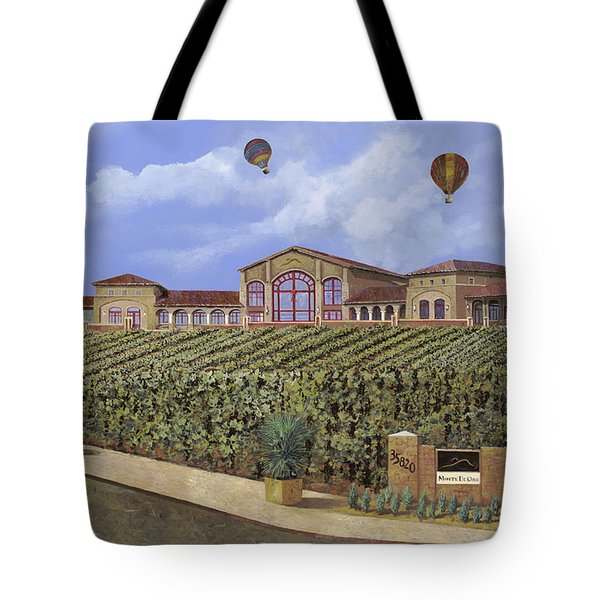 Monte De Oro And The Air Balloons Tote Bag by Guido Borelli