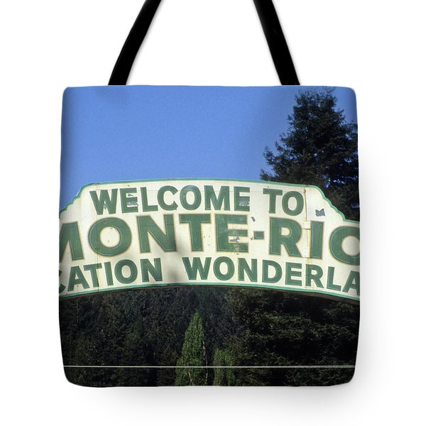 Monte Rio Sign Tote Bag