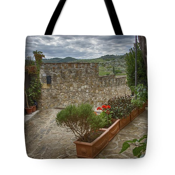 Montefioralle Tuscany 4 Tote Bag