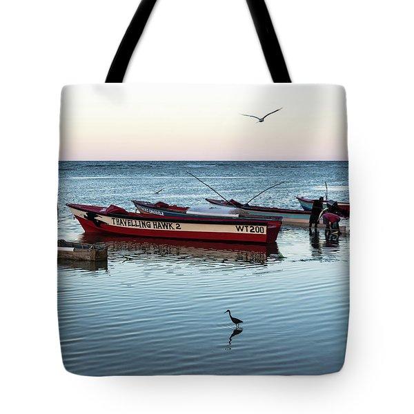 Montego Bay Fishing Scene Tote Bag