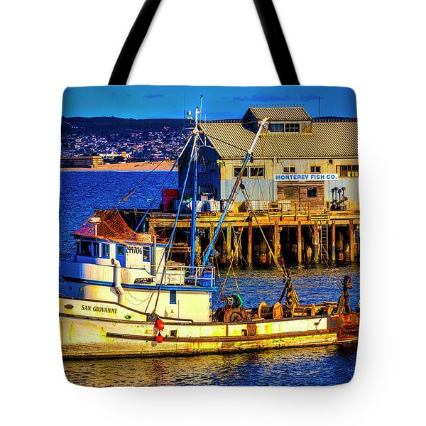 Monterey Bay Fishing Boat Tote Bag