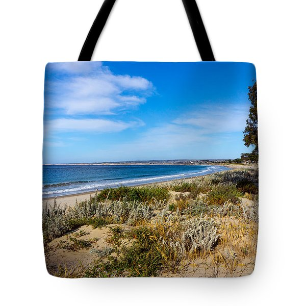 Monterey Beach And Flora Tote Bag