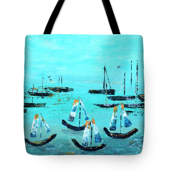 Monterey Boats Tote Bag