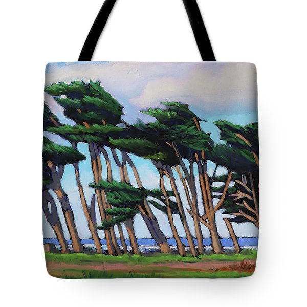 Monterey Cypress Row  Tote Bag