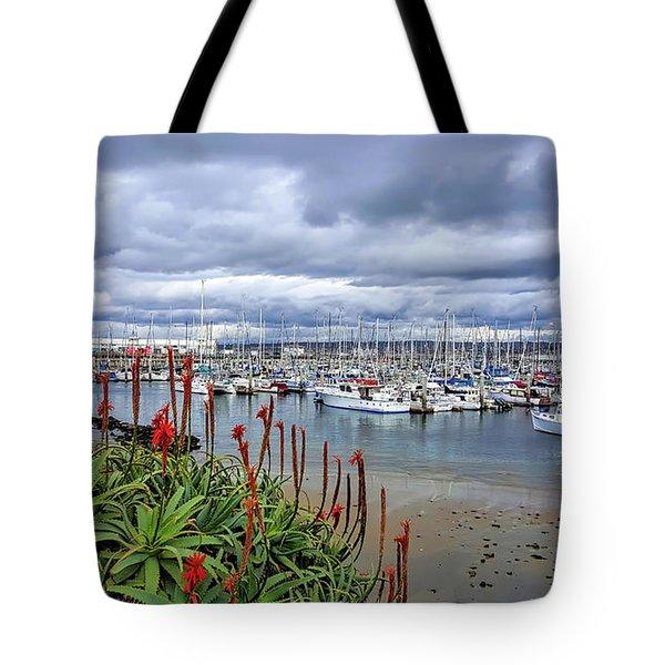 Monterey Marina Tote Bag by Gina Savage