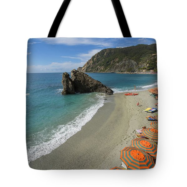 Monterosso Beach Day Tote Bag by Brad Scott