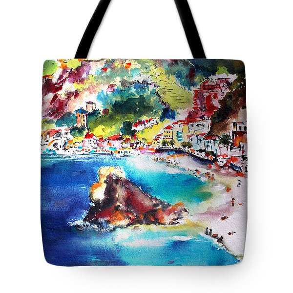 Monterosso  Cinque Terre Italy  Tote Bag by Ginette Callaway
