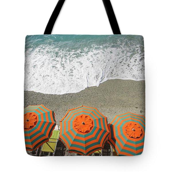Monterosso Umbrellas Tote Bag