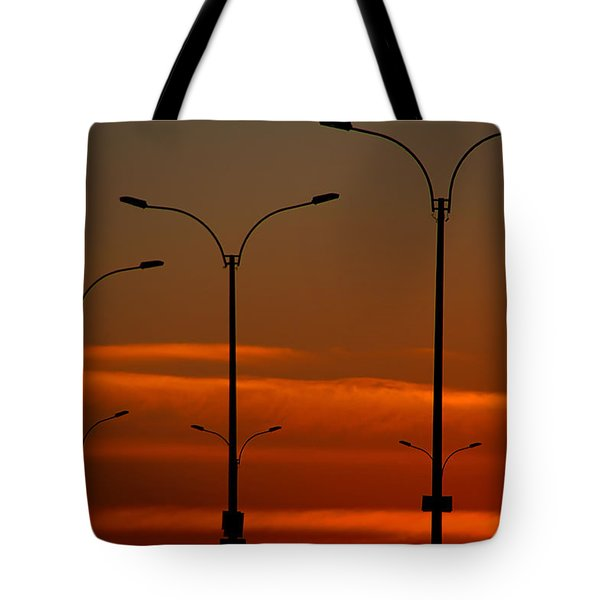Tote Bag featuring the photograph Montevideo Abstract by Steven Richman