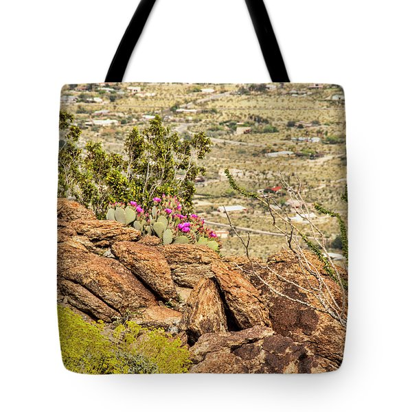 Montezuma Rd Cliff Side Flower Garden Tote Bag