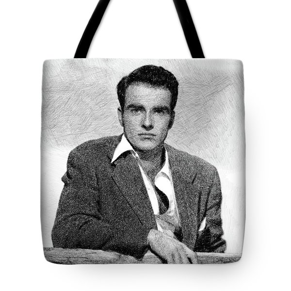 Montgomery Clift, Vintage Actor By Js Tote Bag
