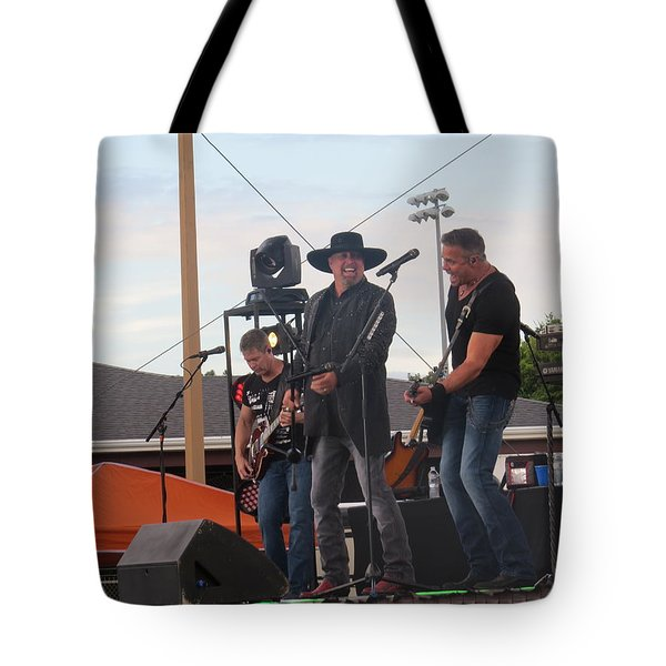 Tote Bag featuring the photograph Montgomery Gentry by Aaron Martens
