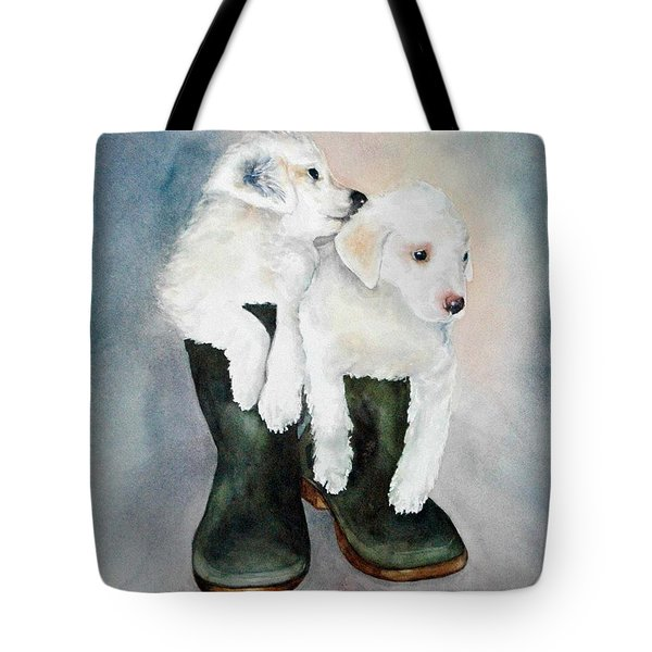 Tote Bag featuring the painting Monti And Gemma by Diane Fujimoto