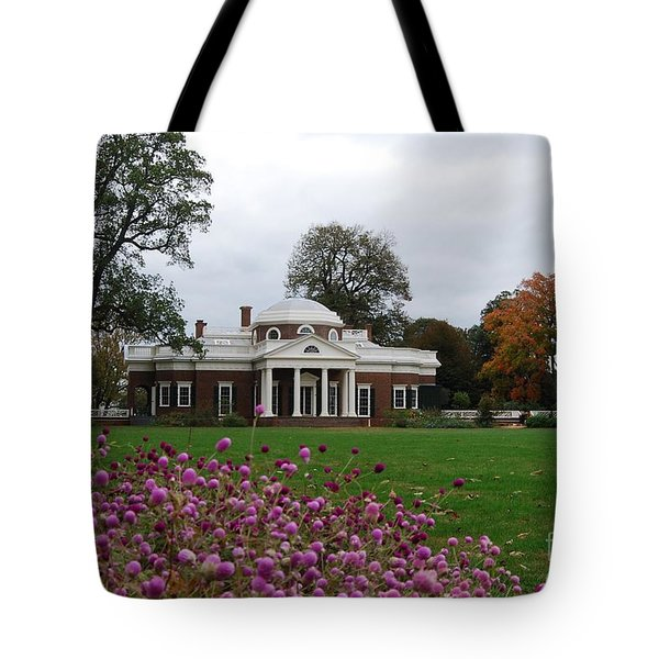 Tote Bag featuring the photograph Monticello by Eric Liller
