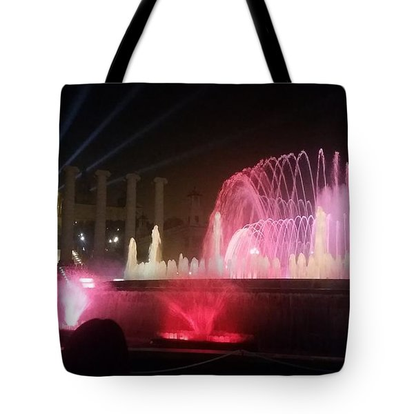 Montjuic Magic Fountain, Spain Tote Bag