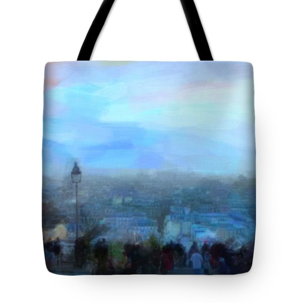 Tote Bag featuring the painting Montmartre From The Butte by Chris Armytage