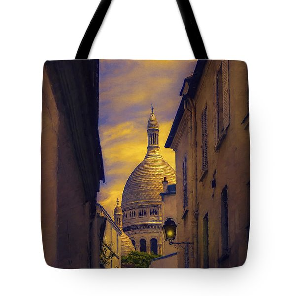 Tote Bag featuring the photograph Montmartre by John Rivera