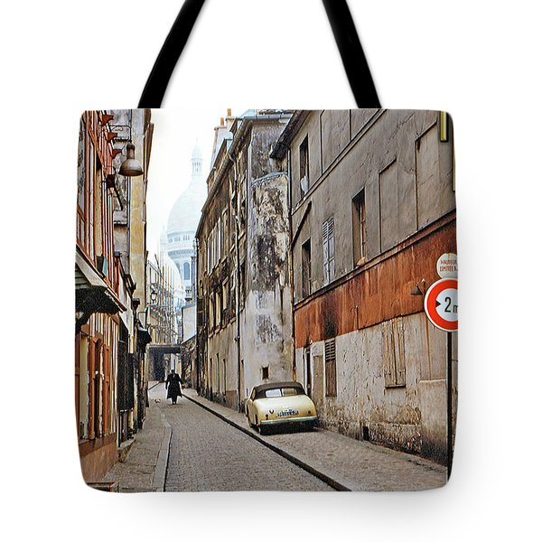 Tote Bag featuring the photograph Montmartre - Titled by Chuck Staley