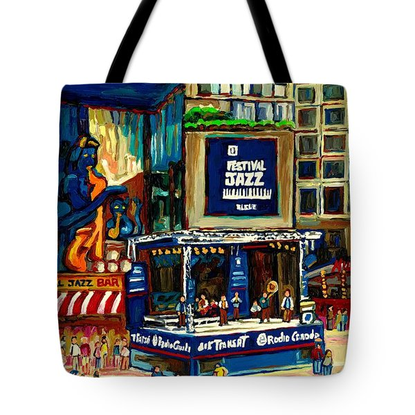 Montreal International Jazz Festival Tote Bag