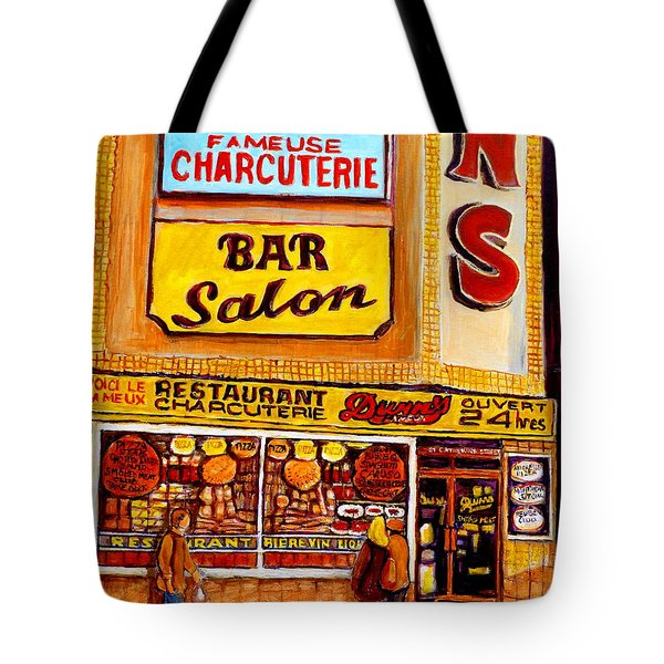 Montreal Landmarks And Legengs By Popular Cityscene Artist Carole Spandau With Over 500 Art Prints Tote Bag by Carole Spandau