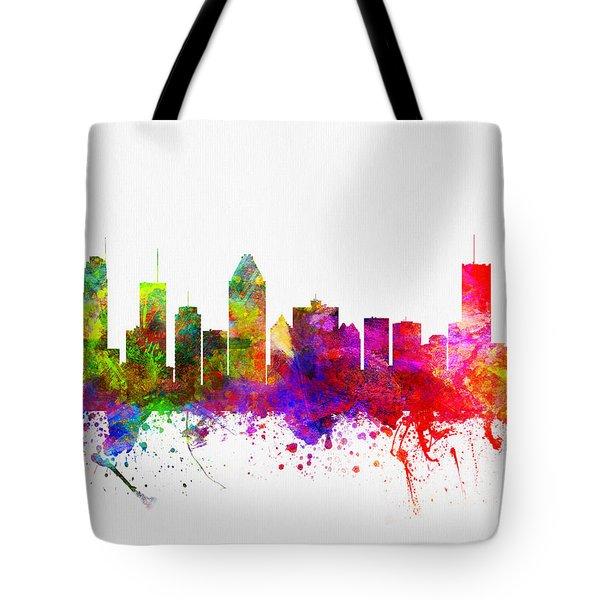 Montreal Quebec Skyline Color02 Tote Bag