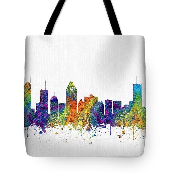 Montreal Quebec Skyline Color03 Tote Bag