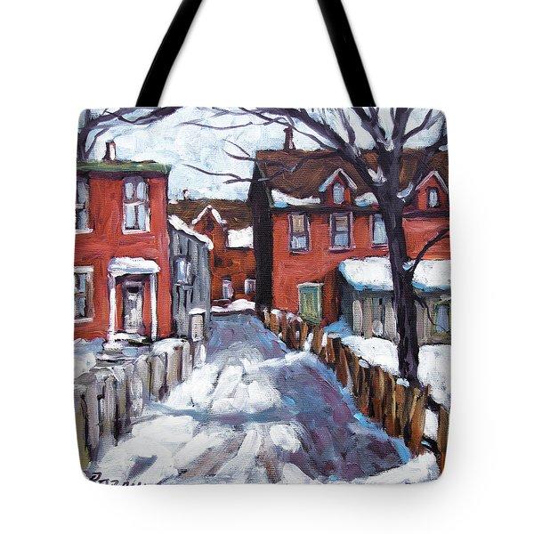 Montreal Scene 02 By Prankearts Tote Bag by Richard T Pranke
