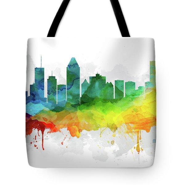 Montreal Skyline Mmr-caqcmo05 Tote Bag