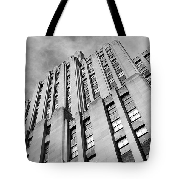 Tote Bag featuring the photograph Montreal Skyscraper by Valentino Visentini