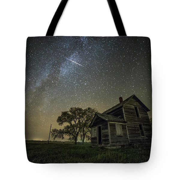 Tote Bag featuring the photograph Montrose Orionid by Aaron J Groen