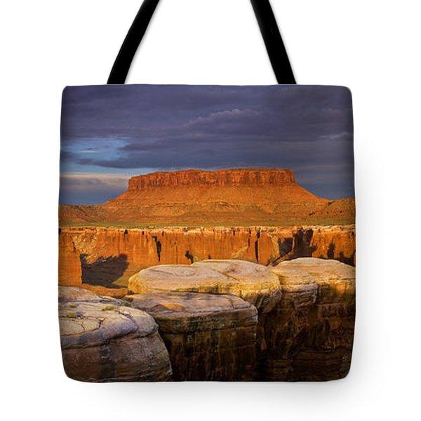 Monument Basin Sunrise Panorama Tote Bag
