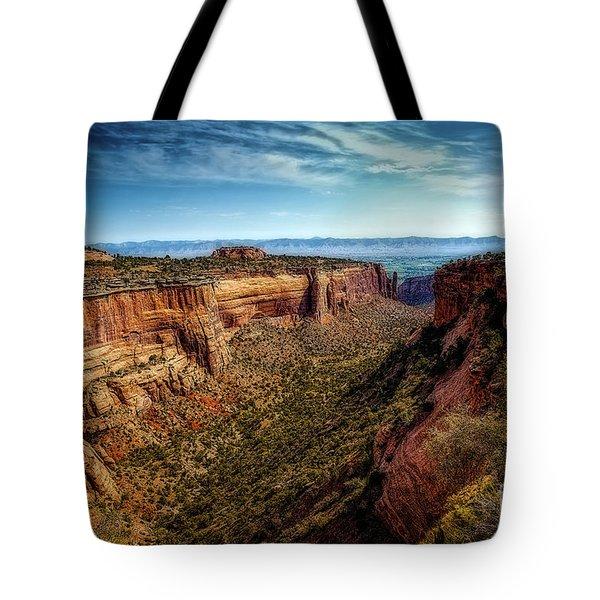 Monument Canyon And Saddlehorn Tote Bag