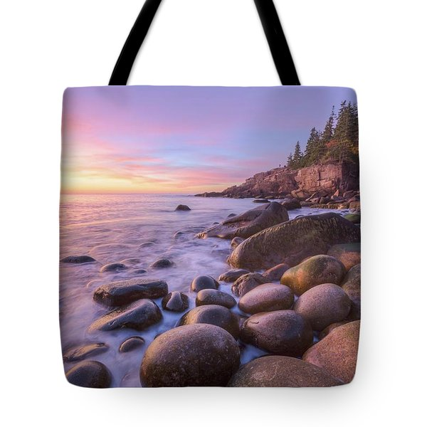 Tote Bag featuring the photograph Monument Cove Morning Light by Paul Schultz