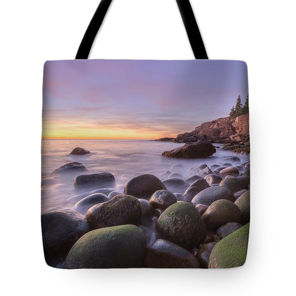 Tote Bag featuring the photograph Monument Cove Sunrise by Paul Schultz