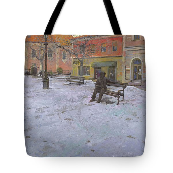 Monument Of Laza Costic In Sombor Tote Bag