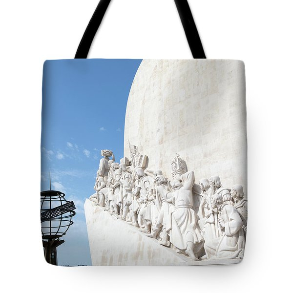 Tote Bag featuring the photograph Monument Of The Discoveries by Rebecca Cozart