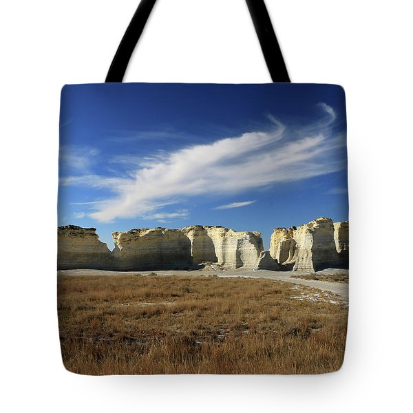 Monument Rock Afternoon  Tote Bag by Christopher McKenzie