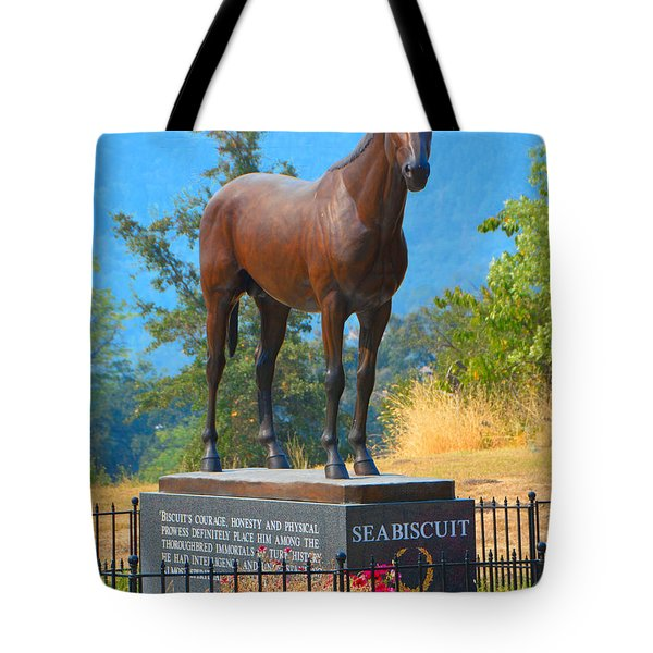 Monument To Seabiscuit Tote Bag