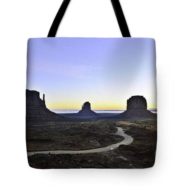 Monument Valley At Sunrise Tote Bag