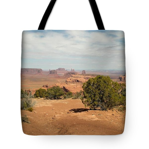 Tote Bag featuring the photograph Monument Valley by Fred Wilson