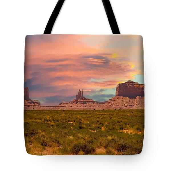Monument Valley Landscape Vista Tote Bag