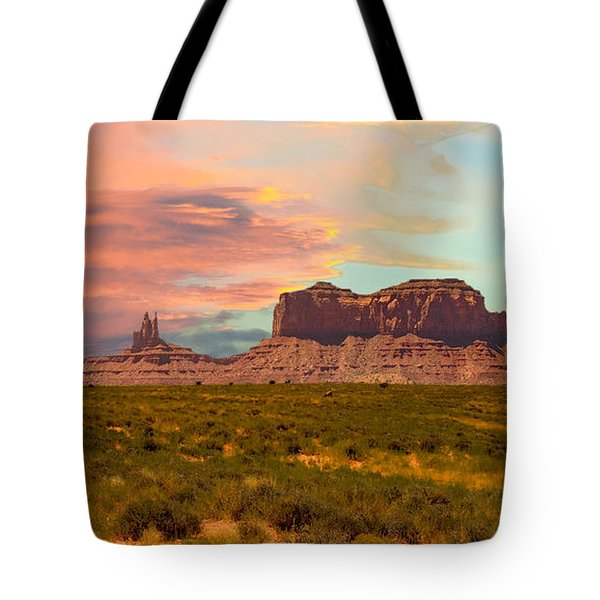 Monument Valley Landscape Vista Tote Bag