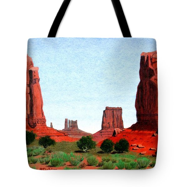 Monument Valley North Window Tote Bag by Mike Robles