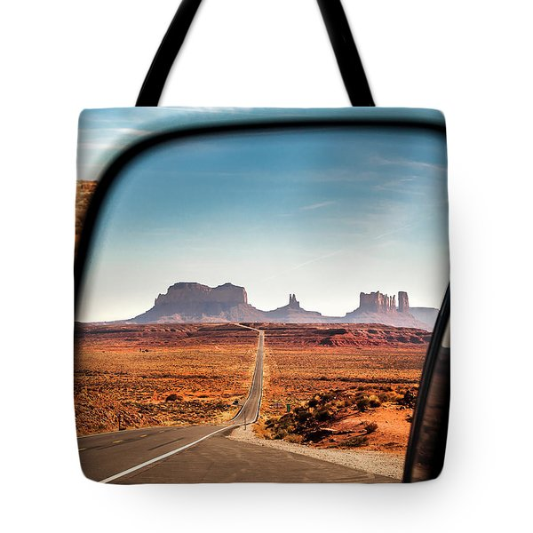 Monument Valley Rearview Mirror Tote Bag