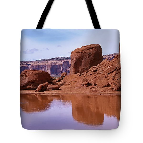 Monument Valley Reflection Tote Bag