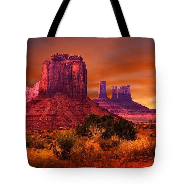 Monument Valley Sunset Tote Bag by Harry Spitz