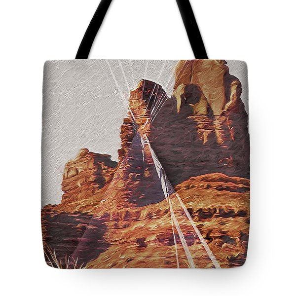 Monument Valley - Teepees Tote Bag