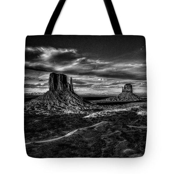 Monument Valley Views Bw Tote Bag