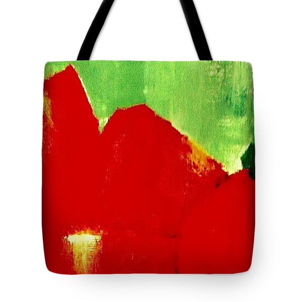 Tote Bag featuring the painting Monumental Capsicum by VIVA Anderson